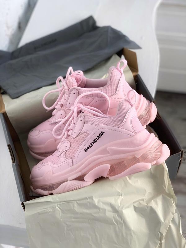 Шикарные женские кроссовки balenciaga triple s pink - Фото 5