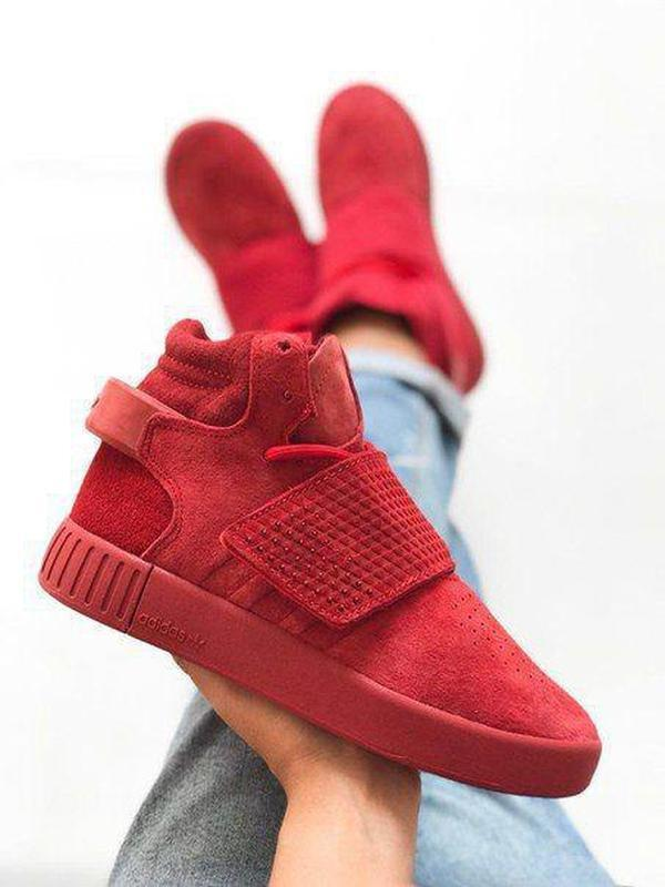 Шикарные женские кроссовки осенние adidas tubular invader red