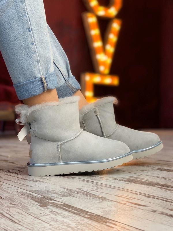 Шикарные женские сапоги ботинки зимние ugg bailey bow mini lig...