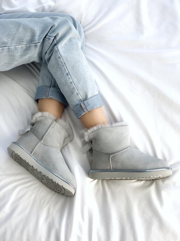 Шикарные женские сапоги ботинки зимние ugg bailey bow mini lig... - Фото 4