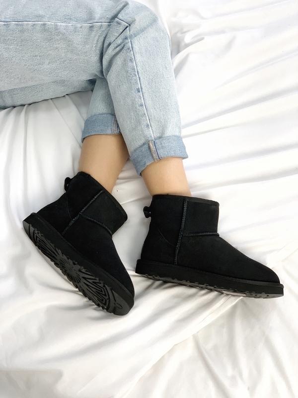 Шикарные женские сапоги ботинки зимние ugg classic ii mini black