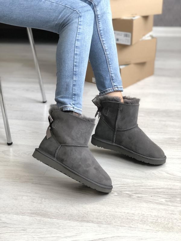 Шикарные женские зимние сапоги ботинки ugg boots australia gray