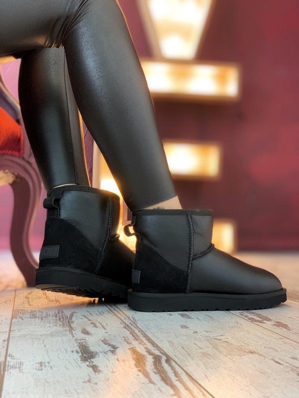 Шикарные женские зимние ботинки сапоги  ugg classic ii mini black