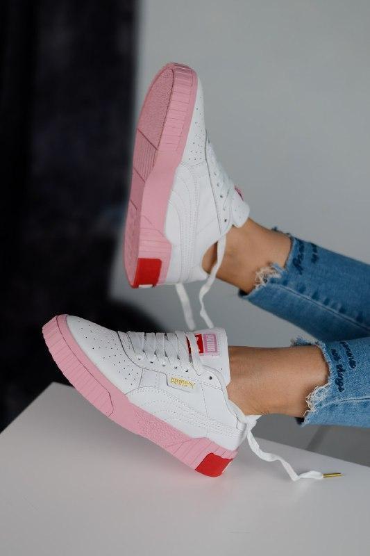 Шикарные женские кроссовки puma cali pink/white - Фото 3