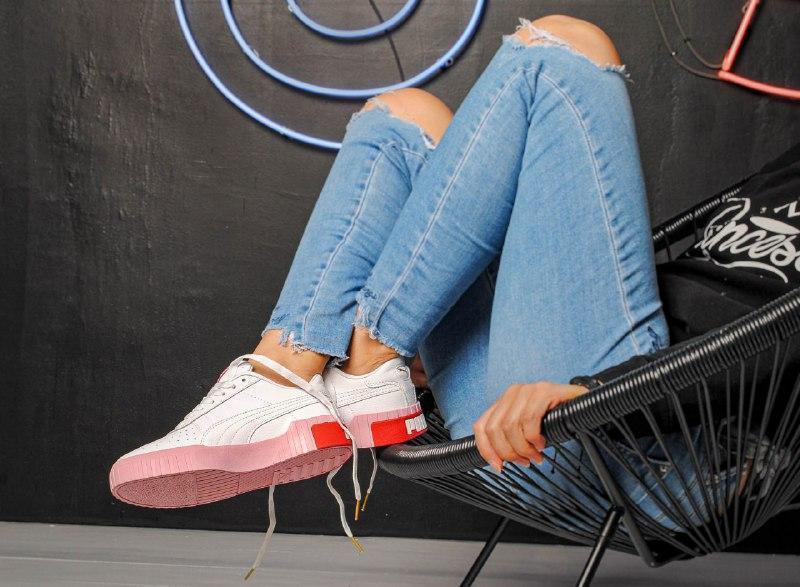 Шикарные женские кроссовки puma cali pink/white - Фото 4
