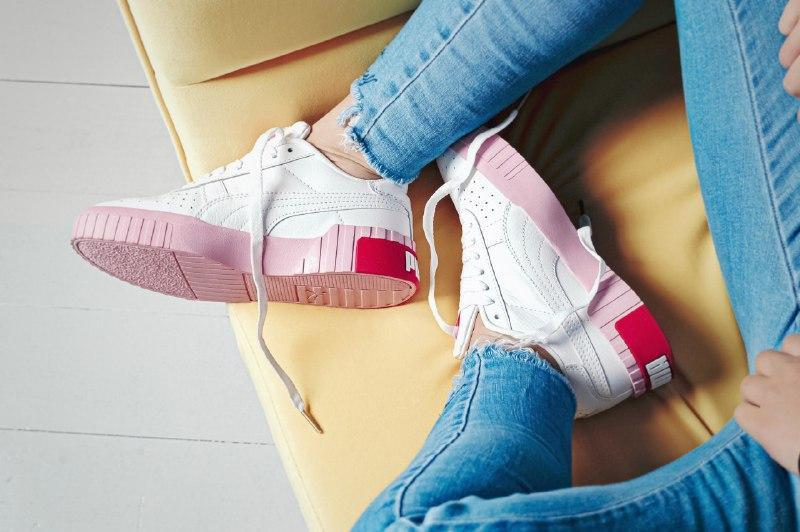 Шикарные женские кроссовки puma cali pink/white - Фото 5