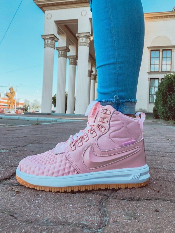 Шикарные женские кроссовки nike lunar force 1 duckboot pink