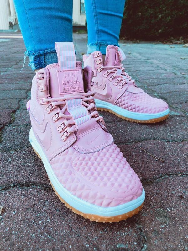 Шикарные женские кроссовки nike lunar force 1 duckboot pink - Фото 4