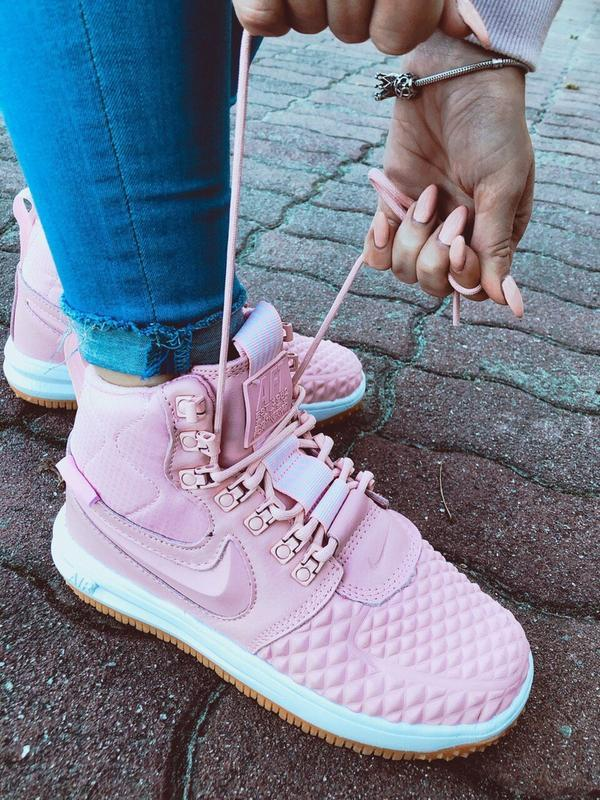 Шикарные женские кроссовки nike lunar force 1 duckboot pink - Фото 5
