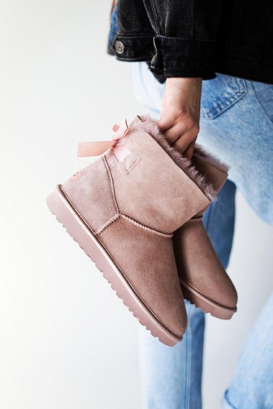 Шикарные женские  зимние сапоги ботинки ugg mini bailey bow dusk