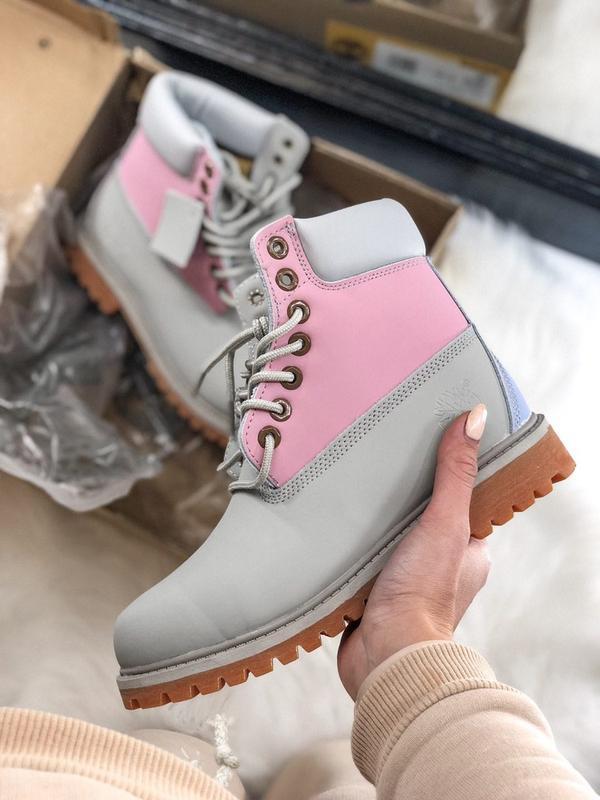 Шикарные женские осенние ботинки timberland boots