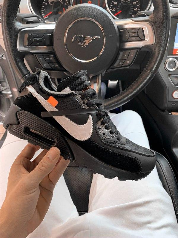 Шикарные мужские  кроссовки nike air max 90 off-white