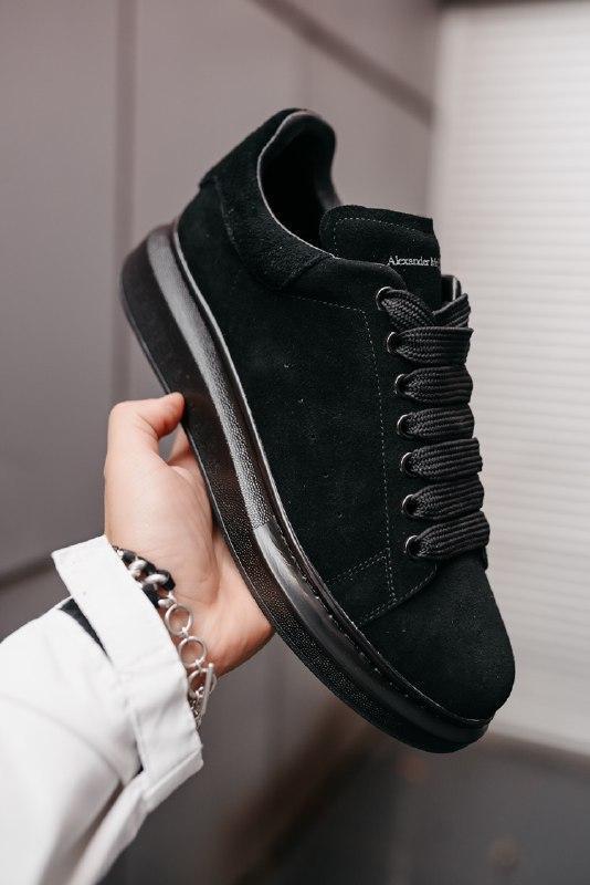 """Шикарные  кроссовки alexander  mcqueen larry """"black"""""""