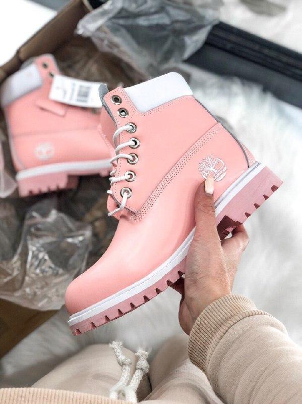 Шикарные женские осенние ботинки  timberland pink  термо