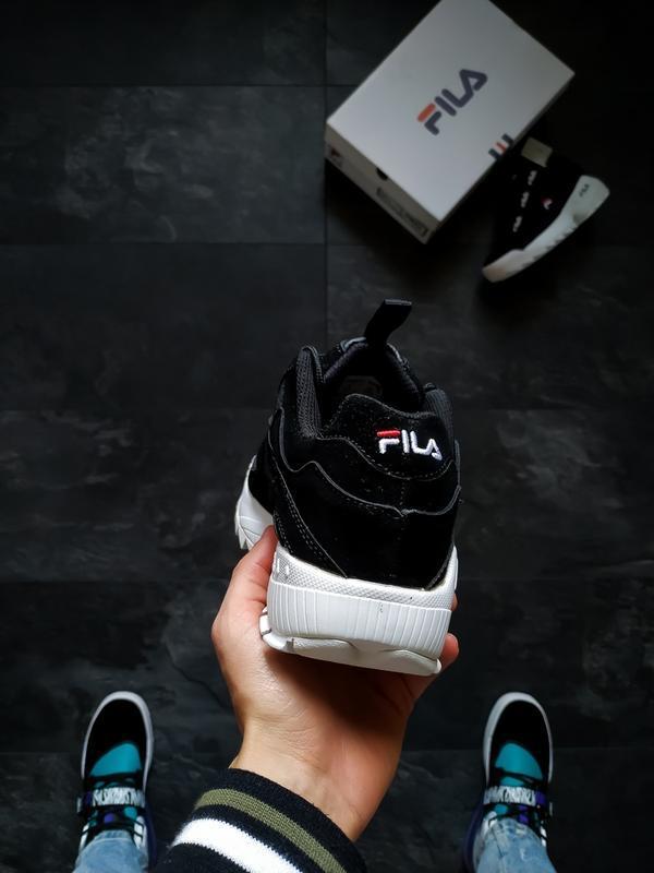 Шикарные женские кроссовки fila disruptor 2 black - Фото 2
