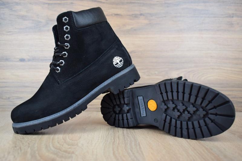 Шикарные женские зимние ботинки с мехом timberland boots black... - Фото 4