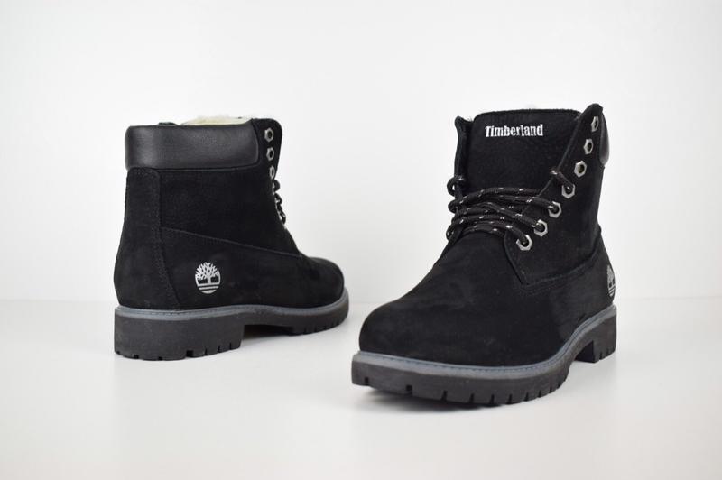 Шикарные женские зимние ботинки с мехом timberland boots black... - Фото 5