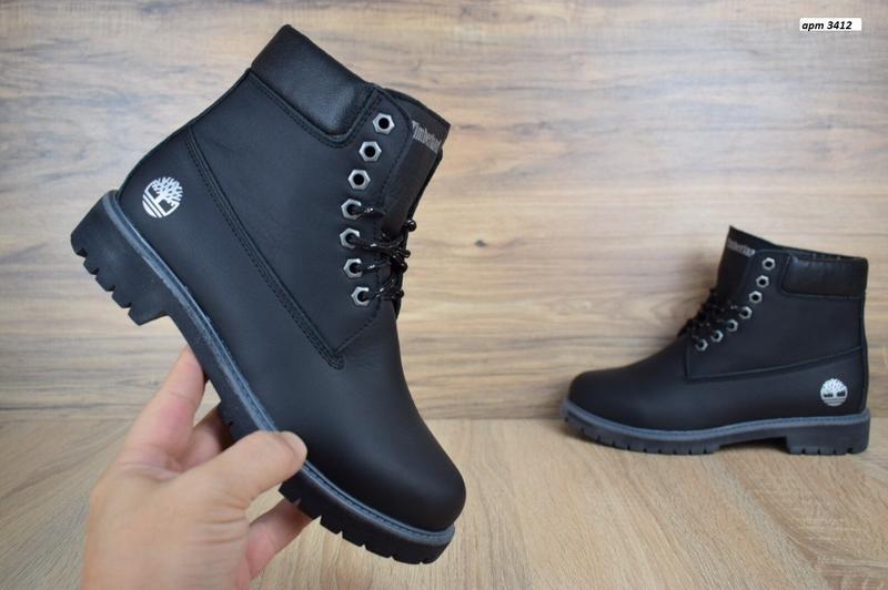 Шикарные женские зимние ботинки с мехом timberland boots black...