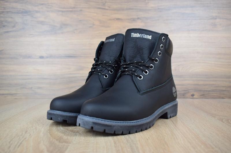 Шикарные женские зимние ботинки с мехом timberland boots black... - Фото 2