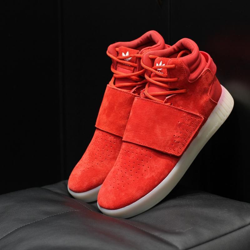 Шикарные женские термо кроссовки adidas tubular invader red ос...