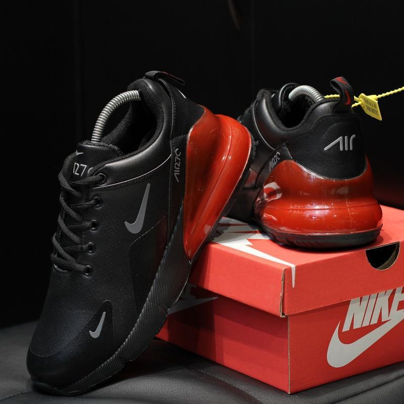 Шикарные мужские зимние  кроссовки nike air max 270 winter bla... - Фото 3