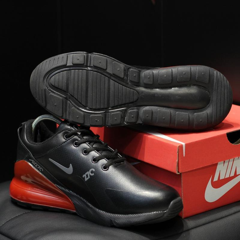 Шикарные мужские зимние  кроссовки nike air max 270 winter bla... - Фото 4