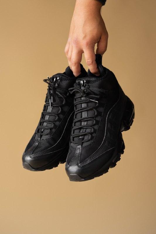 Шикарные мужские термо кроссовки nike sneakerboot black