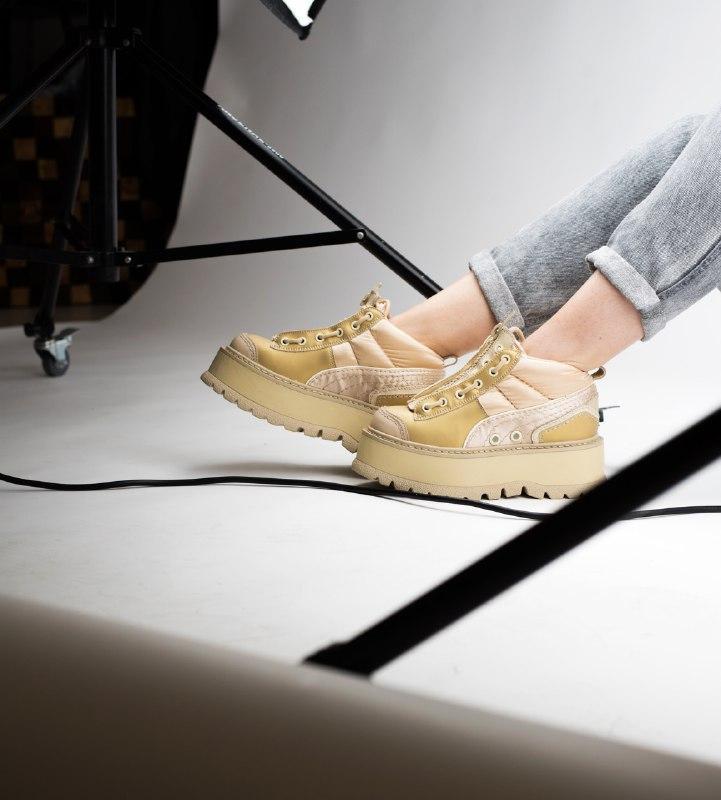 Шикарные женские кроссовки puma x fenty zipped sneaker boots - Фото 5