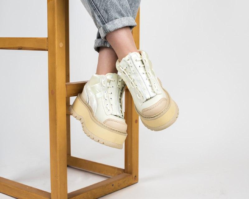 Шикарные женские кроссовки puma x fenty zipped sneaker boots - Фото 2