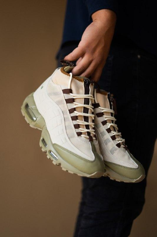 Шикарные мужские термо кроссовки nike sneakerboot, beige