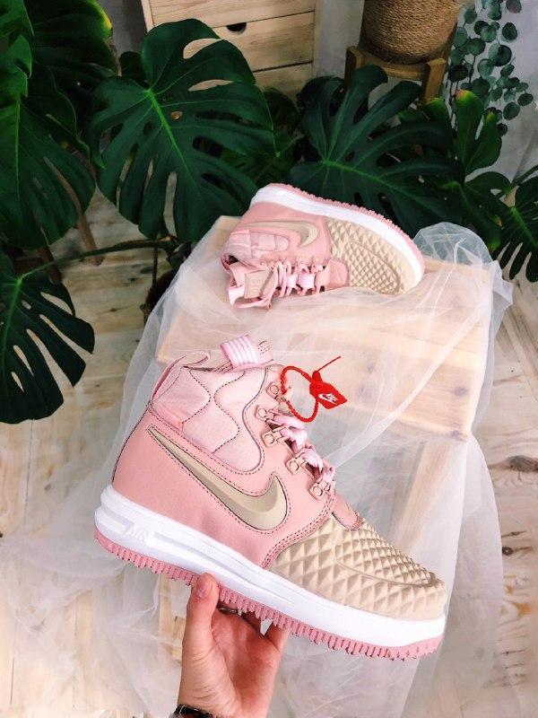 Шикарные женские термо кроссовки nike lunar force 2 duckboot pink - Фото 2