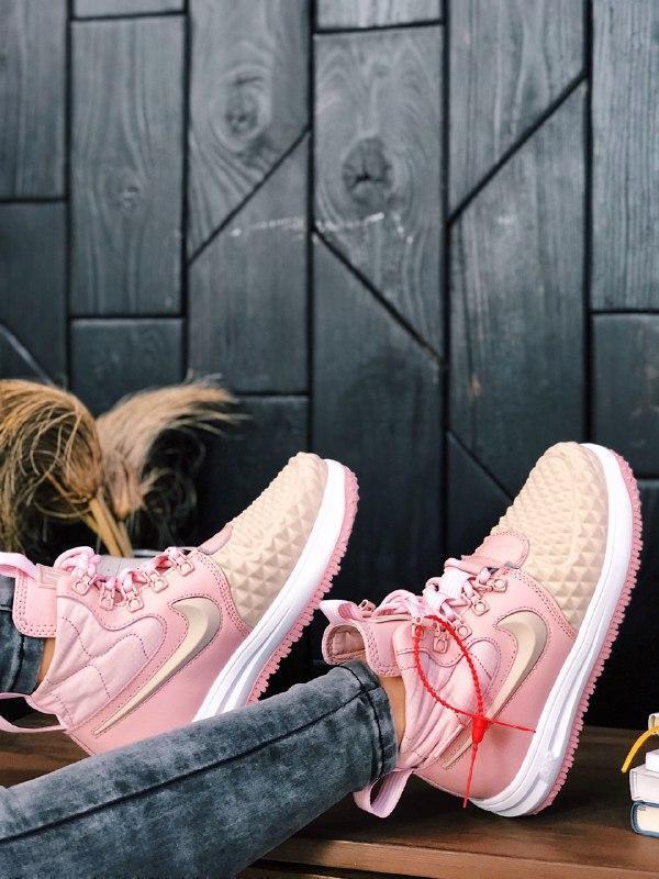 Шикарные женские термо кроссовки nike lunar force 2 duckboot pink - Фото 4