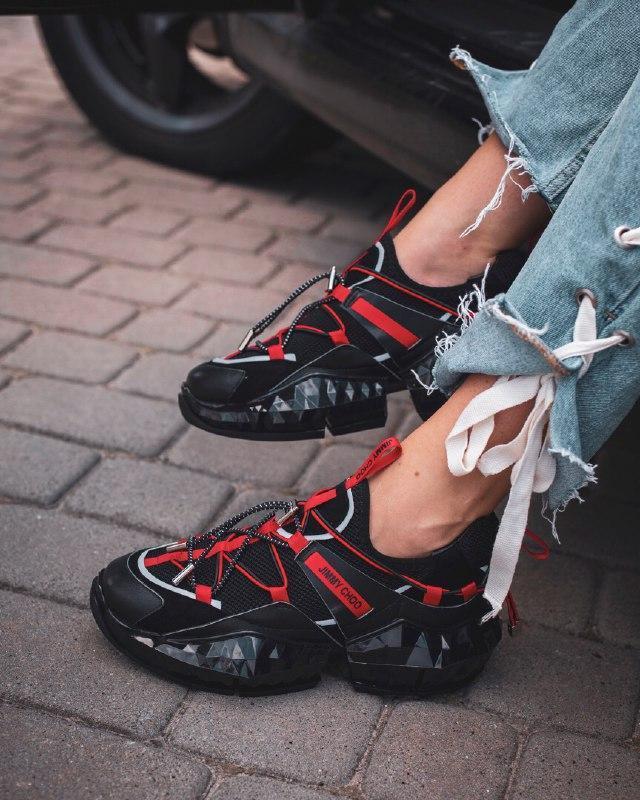 Шикарные женские кроссовки jimmy choo