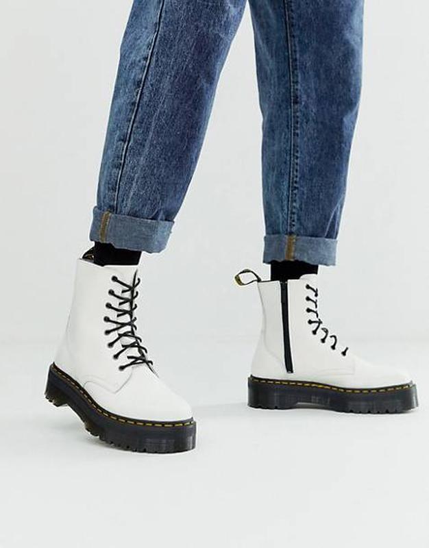 Шикарные женские осенние ботинки dr. martens 1460 jadon white