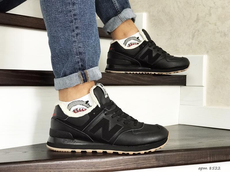 Шикарные мужские кроссовки с мехом new balance 574 winter