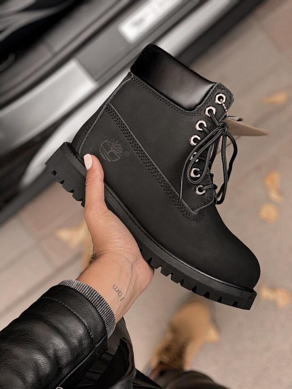 Шикарные женские ботинки timberland 6 inch premium black термо