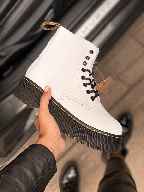 Шикарные женские осенние ботинки dr.martens white jadon white