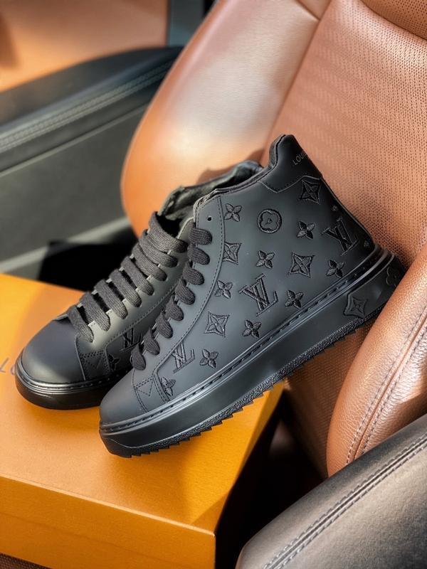 Шикарные женские кроссовки louis vuitton sneakers high black