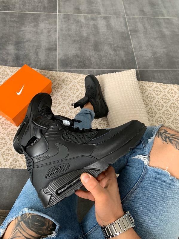 "Шикарные мужские кроссовки nike air max 90 sneakerboot ""black"