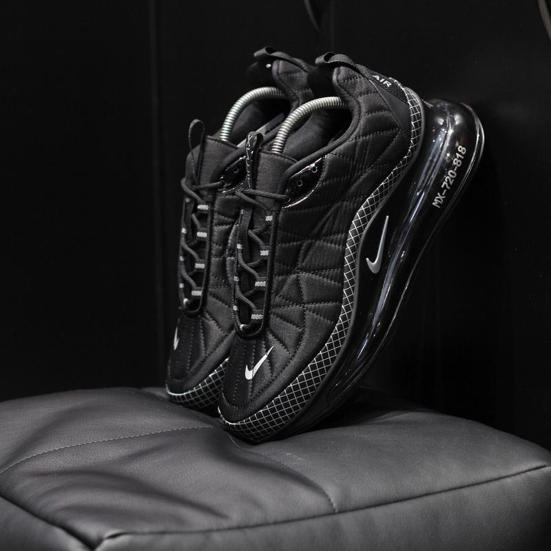 Шикарные мужские  термо кроссовки nike air max 720 black