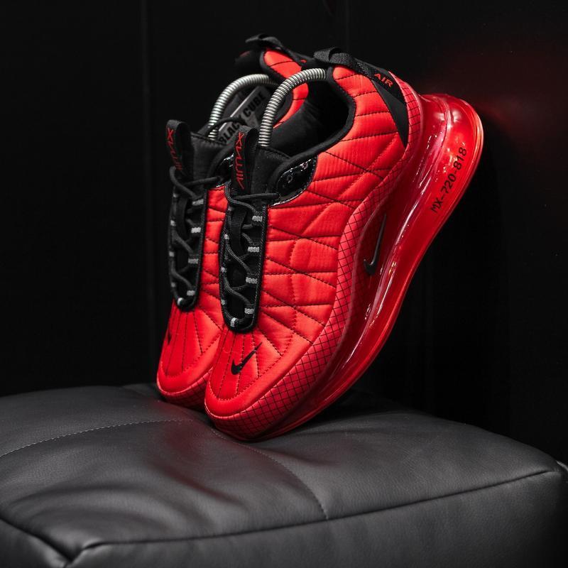 Шикарные мужские  термо кроссовки nike air max 720 red/black