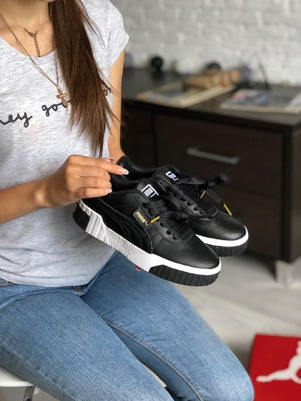 Шикарные женские кроссовки puma cali black