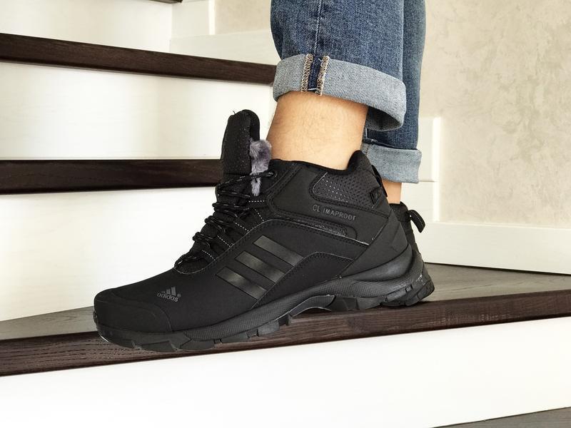 Шикарные мужские зимние теплые ботинки adidas climaproof - Фото 3