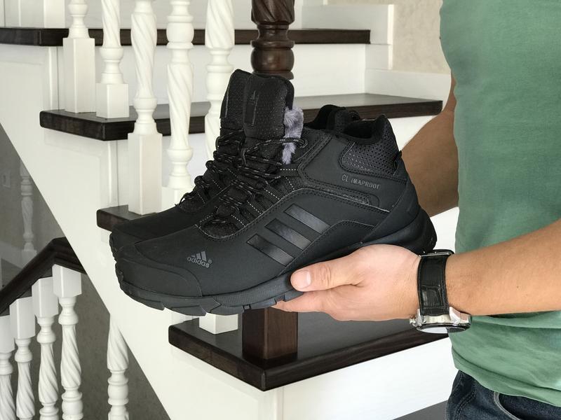 Шикарные мужские зимние теплые ботинки adidas climaproof - Фото 4