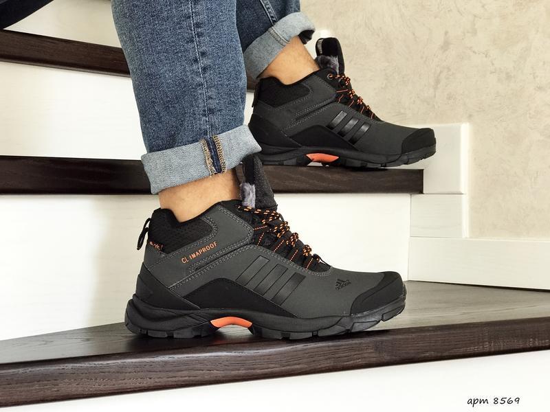Шикарные мужские зимние теплые ботинки adidas climaproof