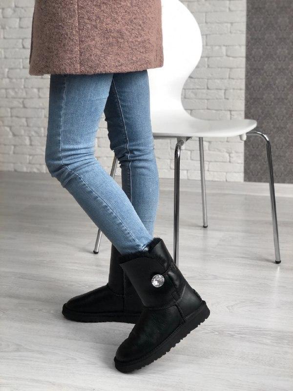 Шикарные женские зимние ботинки сапоги ботинки с мехом ugg boo...