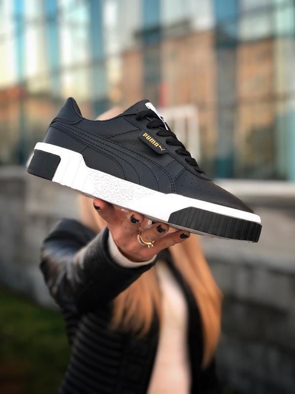 Шикарные  кроссовки puma cali black