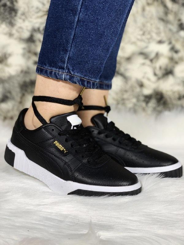 Шикарные женские кроссовки puma cali black - Фото 2