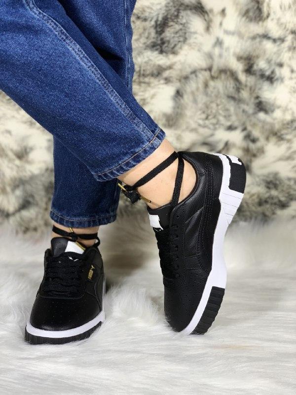 Шикарные женские кроссовки puma cali black - Фото 3