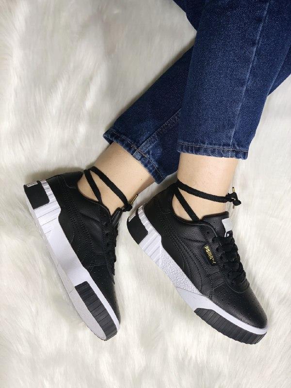 Шикарные женские кроссовки puma cali black - Фото 5
